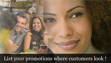 List your promotions where customers look!