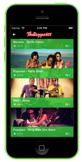 Reggae Music Videos iPhone